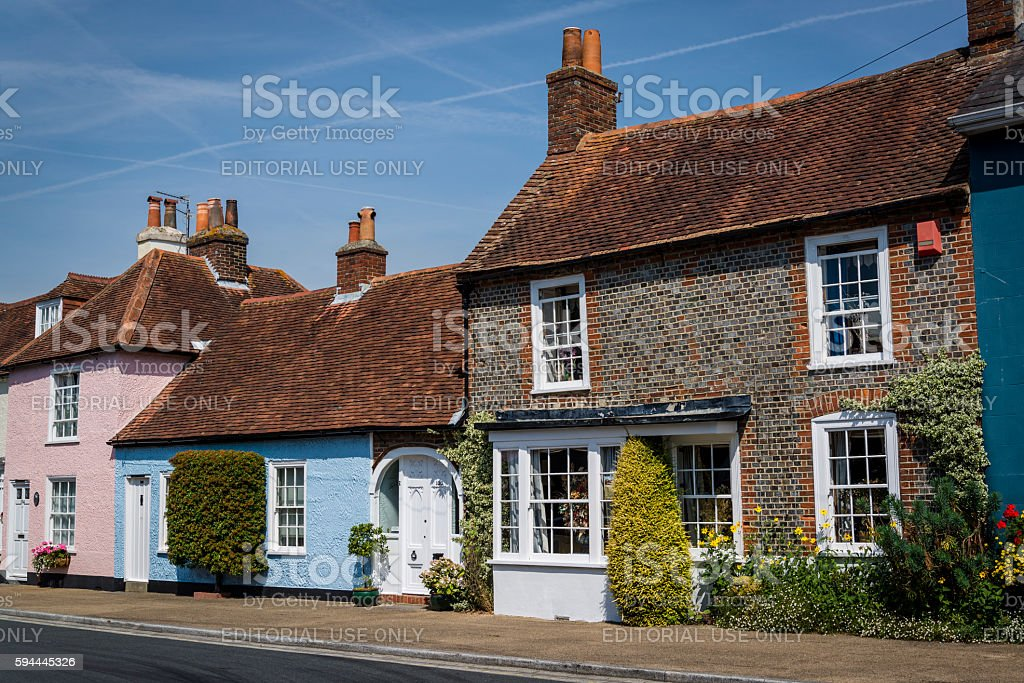 Portchester, picturesque village in Hampshire, England, UK stock photo