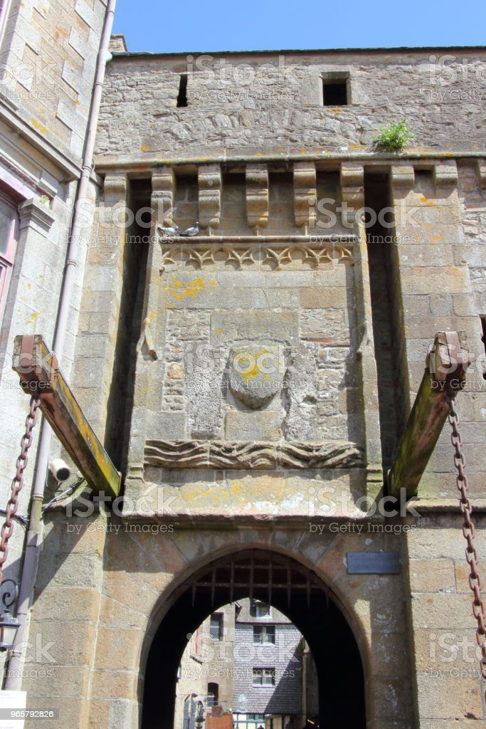 Portcullis Gate Entry to the Village - Royalty-free Castle Stock Photo