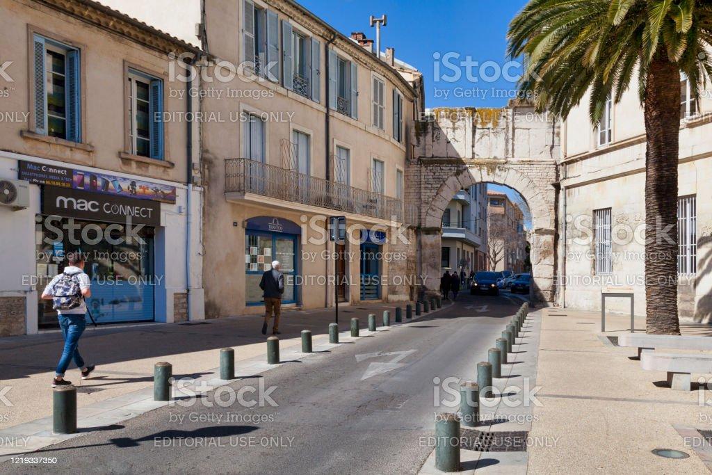 Porte de France in Nîmes - Royalty-free Ancient Stock Photo
