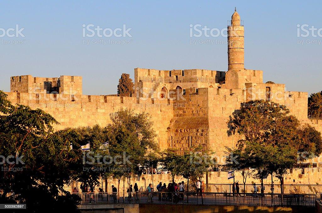 Porte de Jaffa stock photo