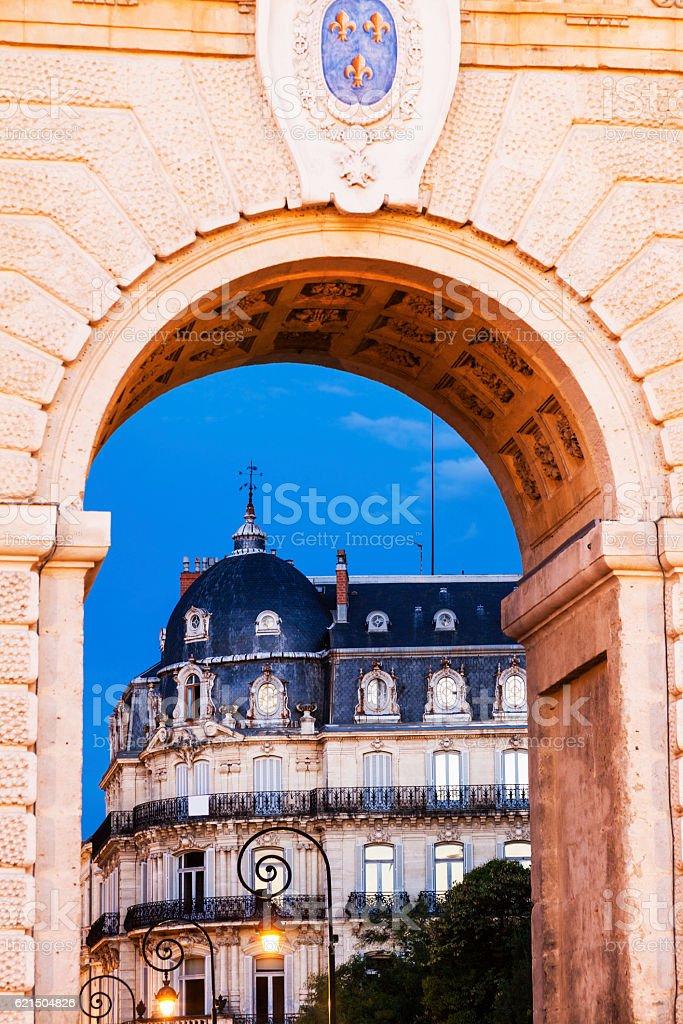 Porte du Peyrou in Montpellier foto stock royalty-free