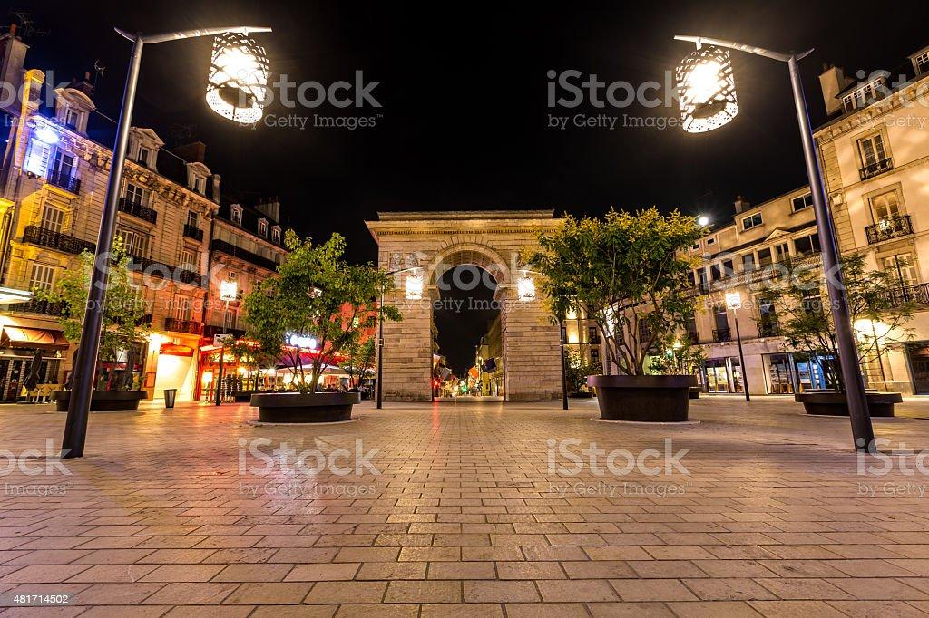 Porte Guillaume square in Dijon, France stock photo
