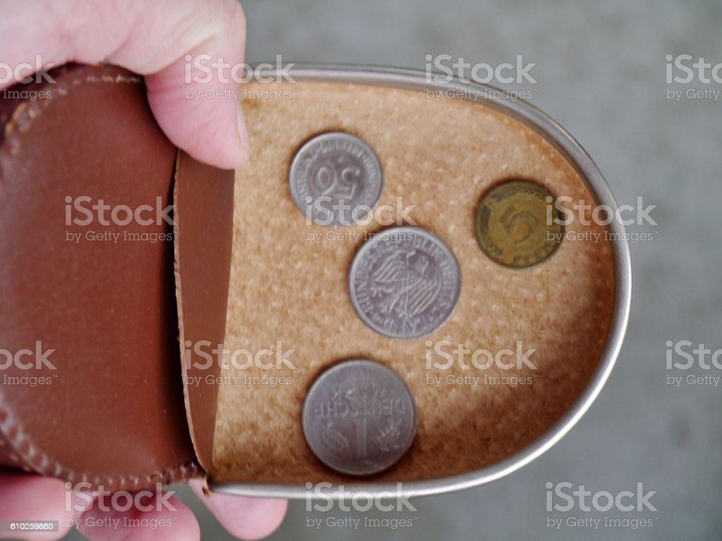 Portemonnaie mit DM und Pfenningen – Foto