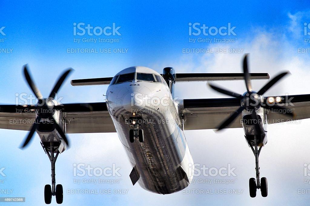 Porter Airlines Landing - foto de acervo