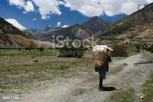 istock Porter on the Annapurna cirkut trek 935572066
