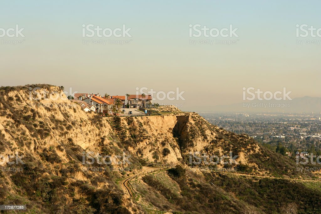 Porter Ranch Cliffside stock photo
