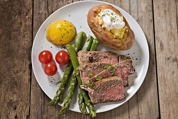 Porterhouse Steak Dinner stock photo