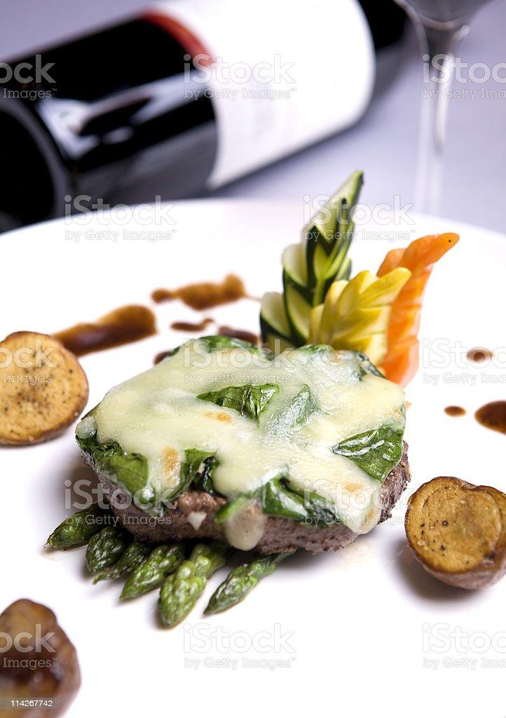 Porterhouse Steak with cheese royalty-free stock photo