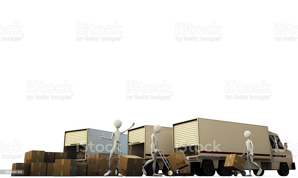 porters at work royalty-free stock photo