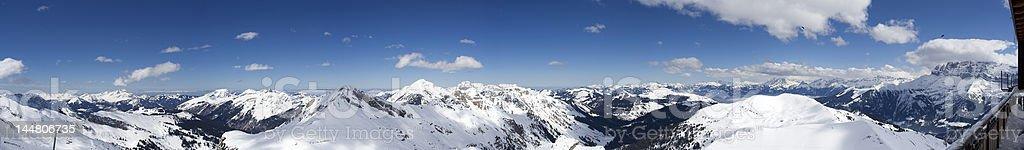 Portes du Soleil Mountain Panorama royalty-free stock photo