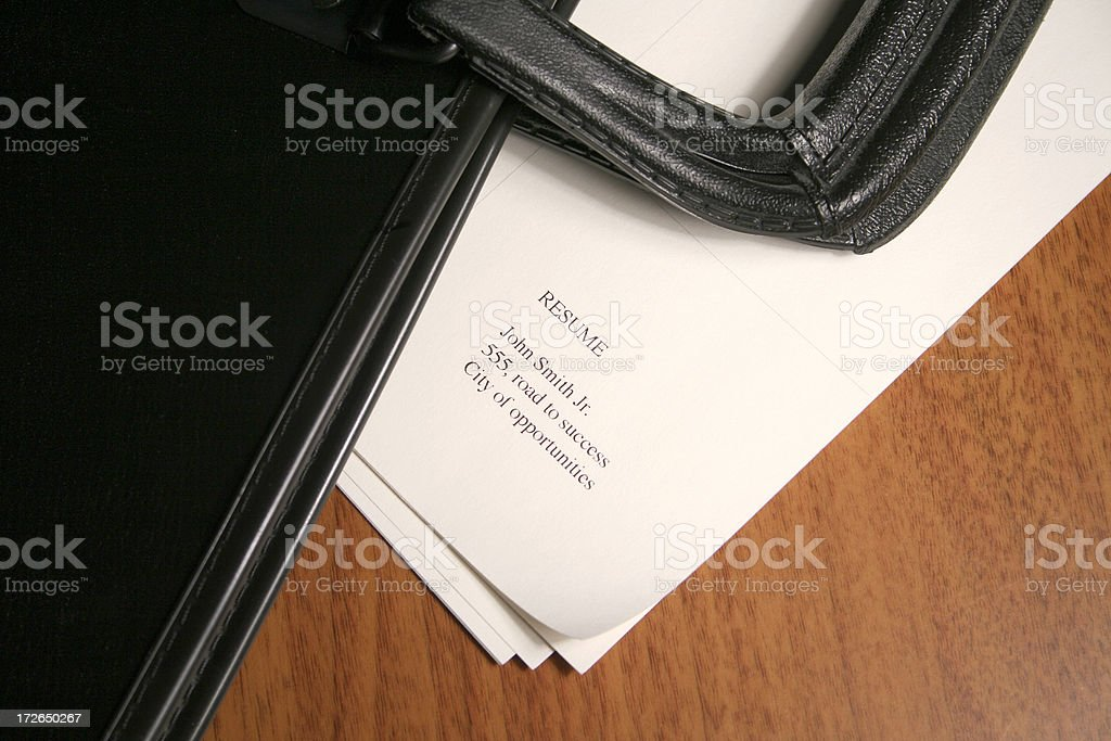 Portfolio and resume royalty-free stock photo