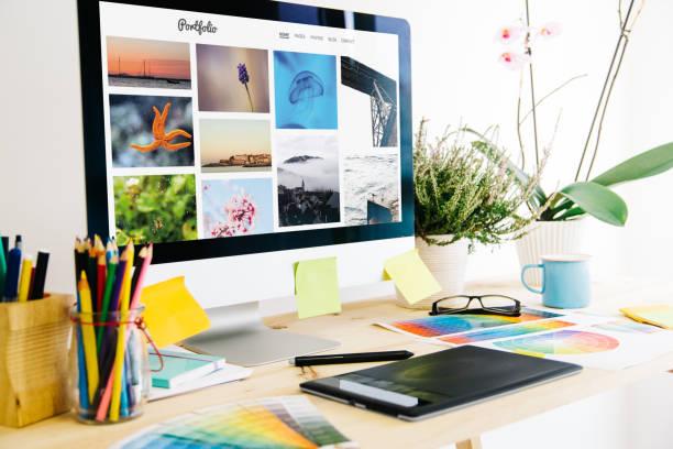 Studio de design graphique de portefeuille - Photo