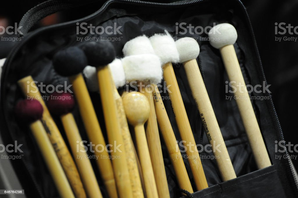 Portfolio of Percussion Mallets stock photo