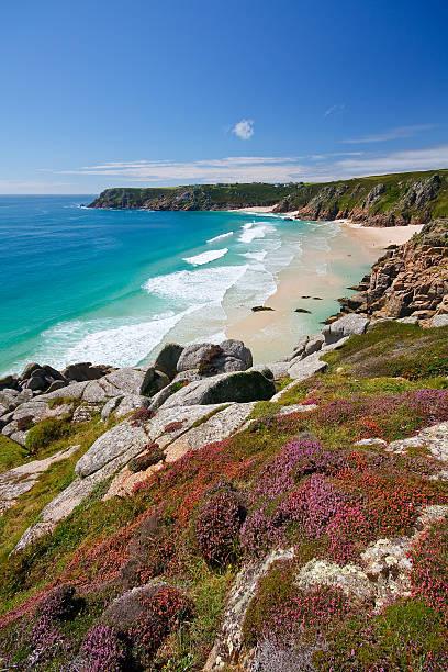 Porthcurno, Cornwall, UK. stock photo