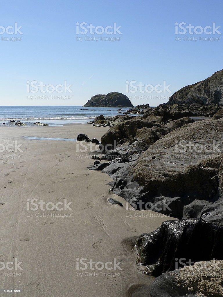 Porthgain Beach royalty-free stock photo