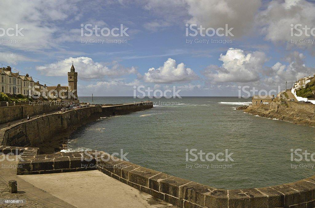 Porthleven harbour stock photo