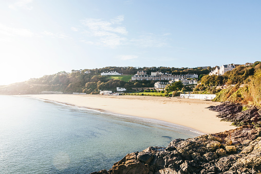 Porthminster beach In St Ives on the coast of Cornwall