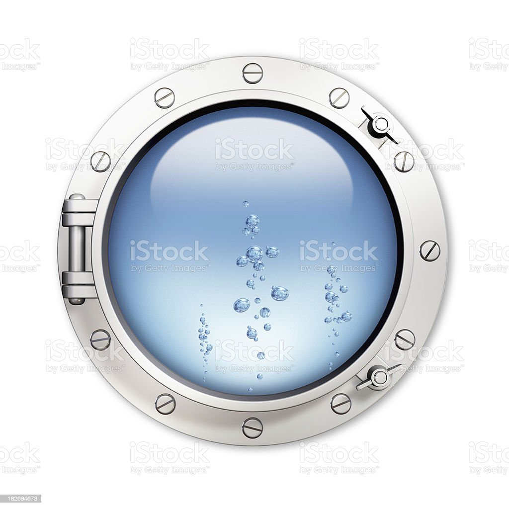 Porthole and bubble royalty-free stock photo