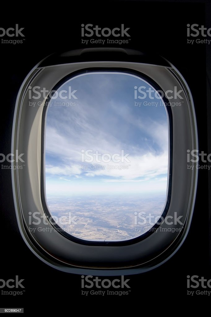 Porthole - Looking out over Texas stock photo