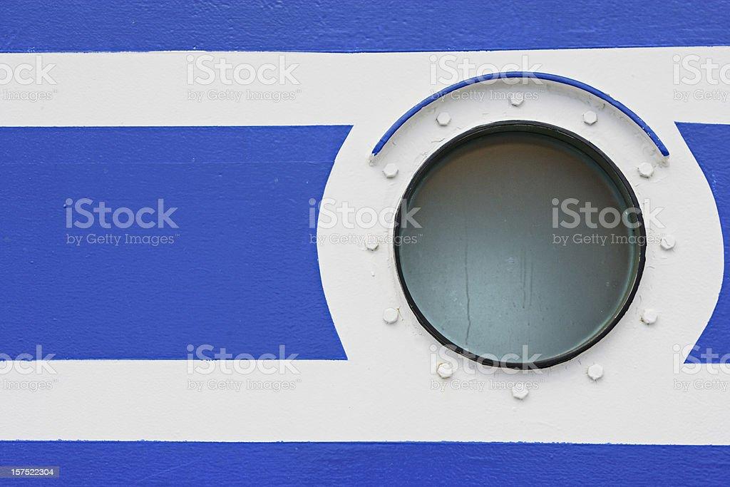 Porthole on a Boat royalty-free stock photo