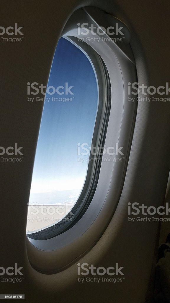 Porthole Plane royalty-free stock photo