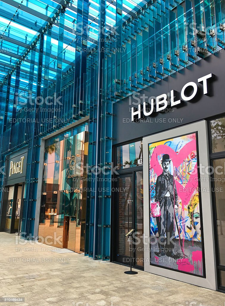 Hublot store stock photo