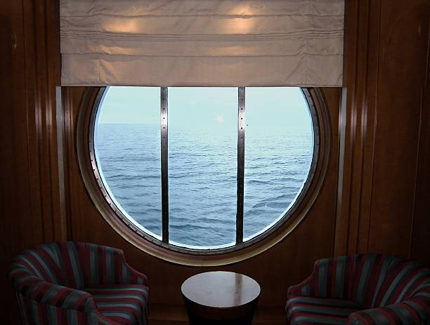 Porthole View stock photo