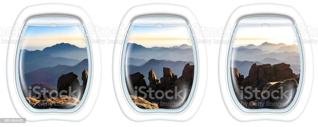 Janelas redondas na Mount Sinai Cimeira - foto de acervo