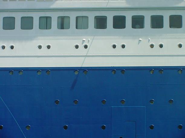 Portholes of Ship stock photo