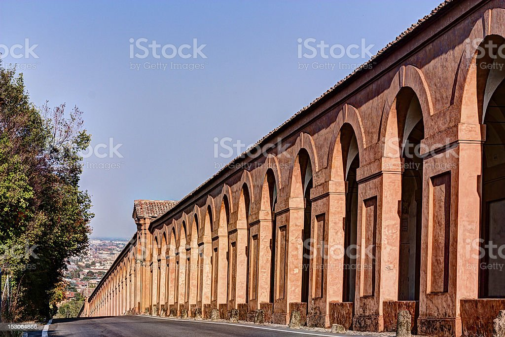 Portico di San Luca, Bologna stock photo