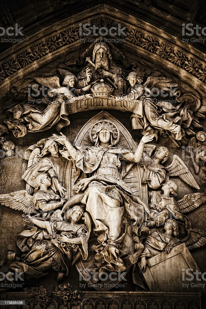 Portico of Seville Cathedral royalty-free stock photo