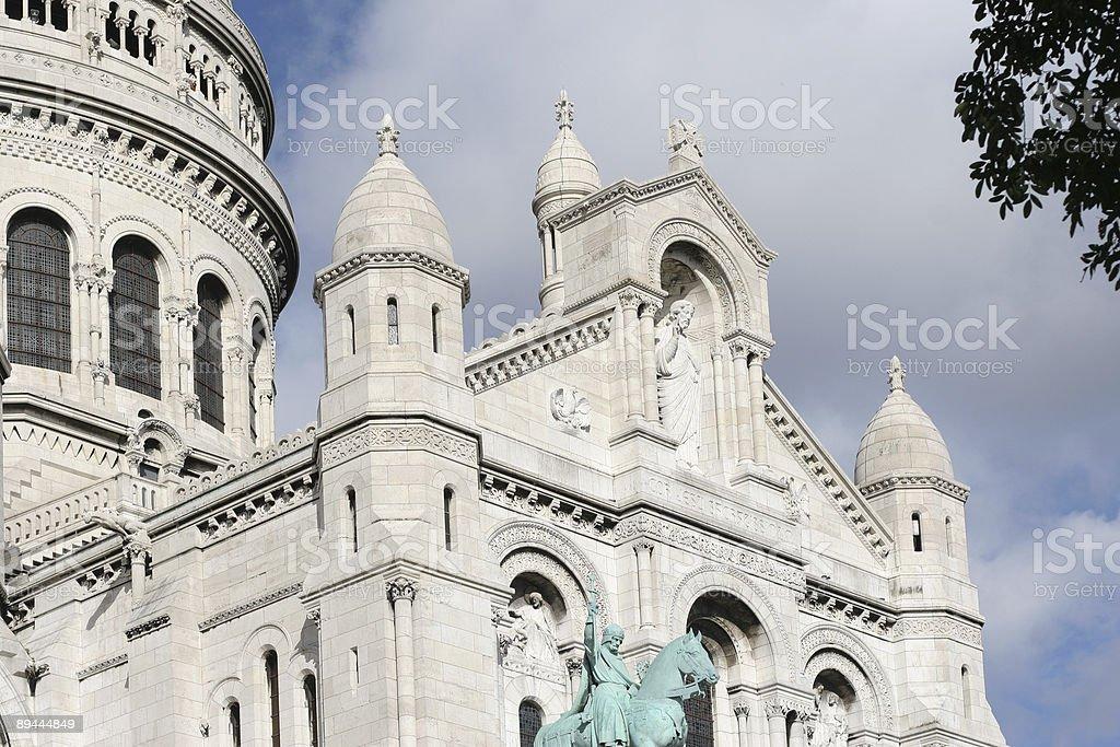 Portique de la Basilique du Sacré-Coeur photo libre de droits