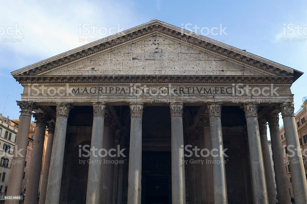 Portico of the Pantheon, Rome royalty-free stock photo