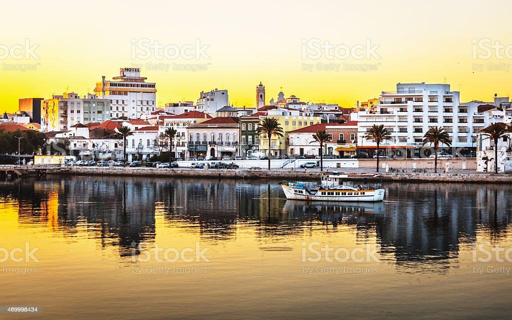 Portimao sunset, Algarve. stock photo