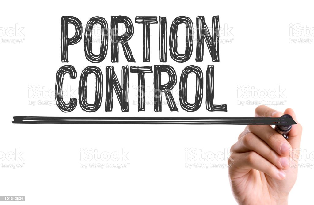 Portion Control stock photo