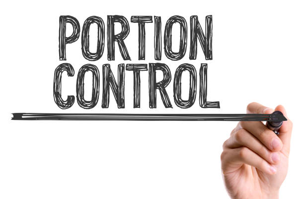 portion control - serving size stock photos and pictures