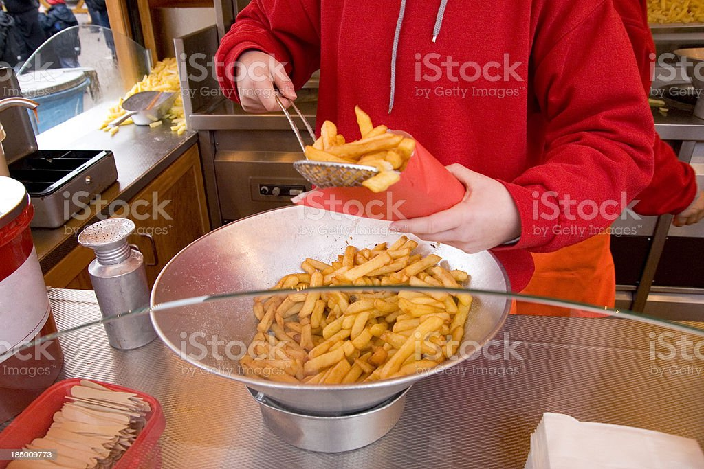 Portion French Fries royalty-free stock photo