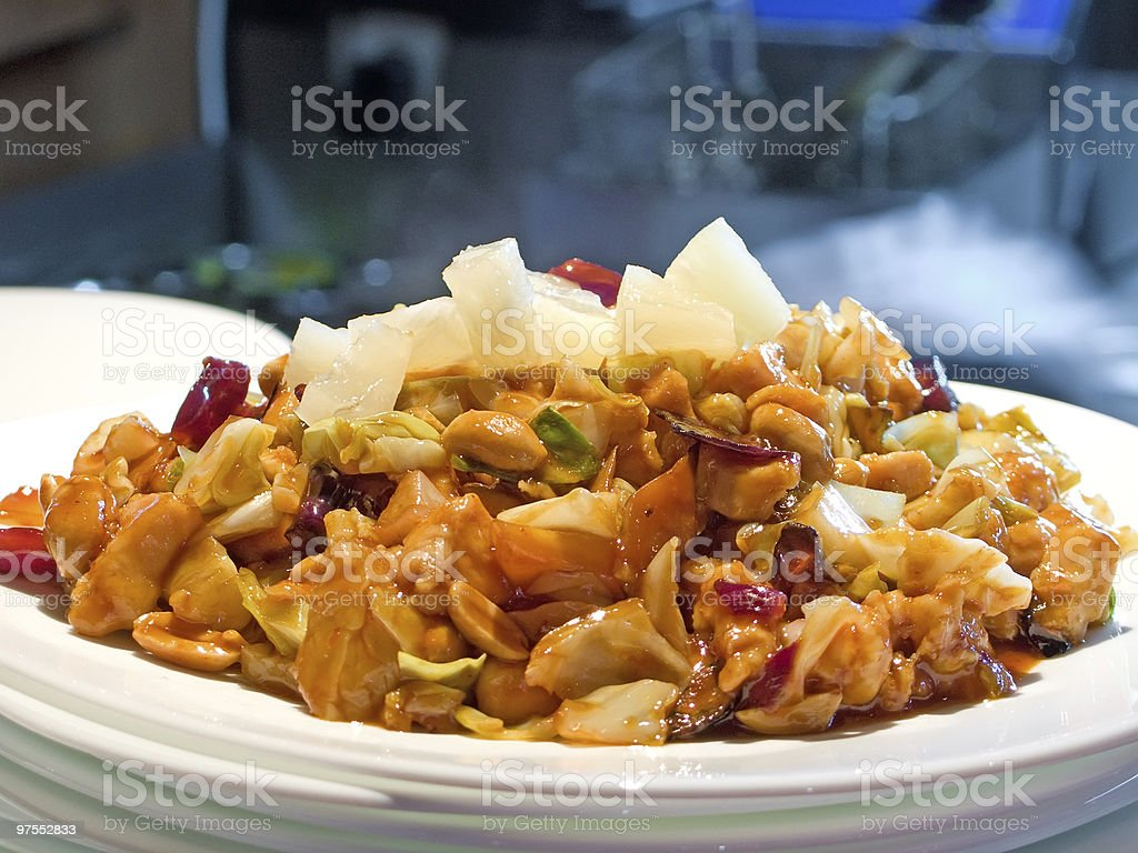 Portion in Chinese restaurant royalty-free stock photo