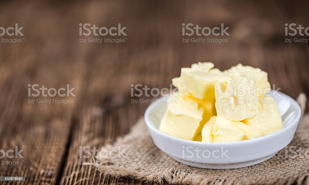 Portion of Butter (selective focus) stock photo