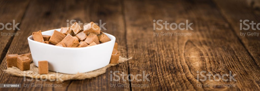 Portion of Caramel stock photo