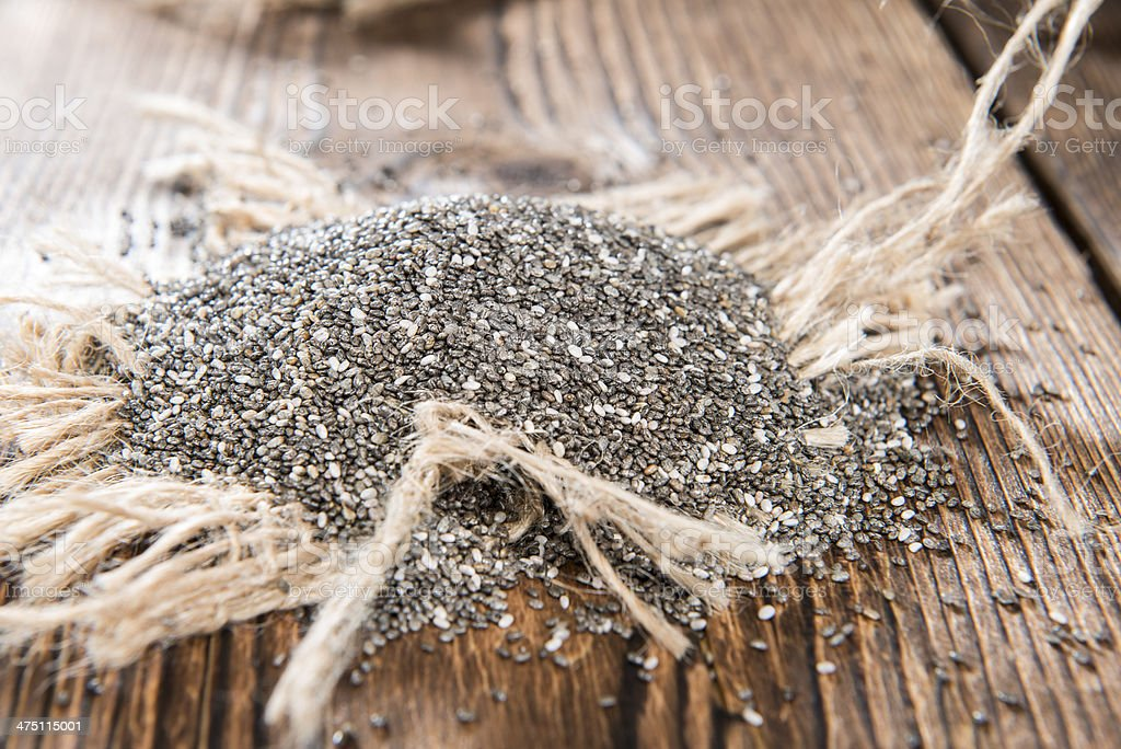 Portion of Chia Seeds royalty-free stock photo