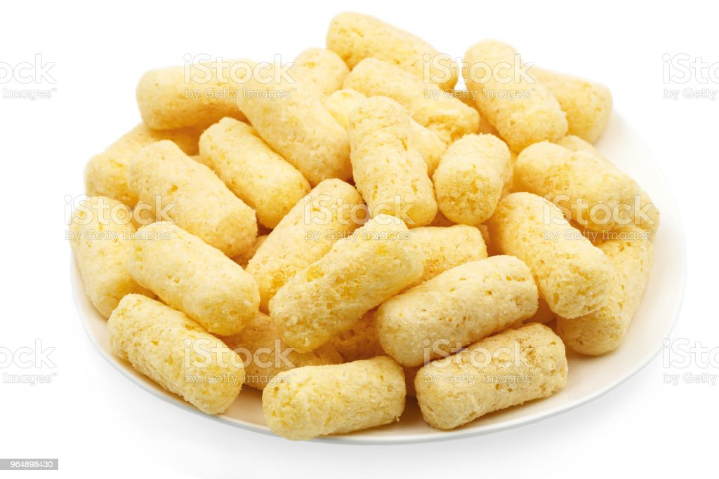 Portion of corn sticks. royalty-free stock photo