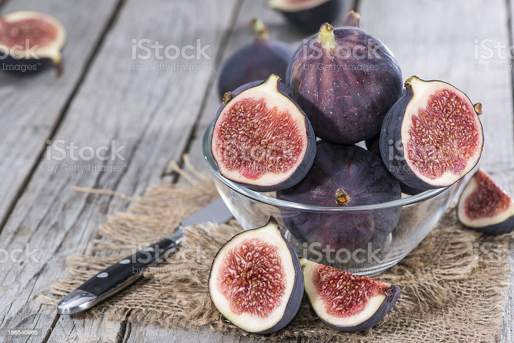 Portion of fresh Figs stock photo