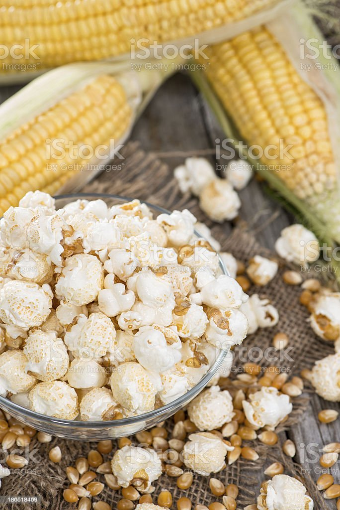 Portion of fresh made Popcorn royalty-free stock photo