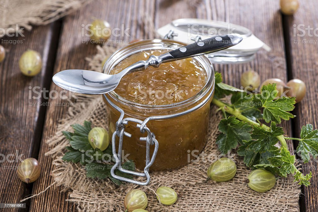 Portion of Gooseberry Jam royalty-free stock photo