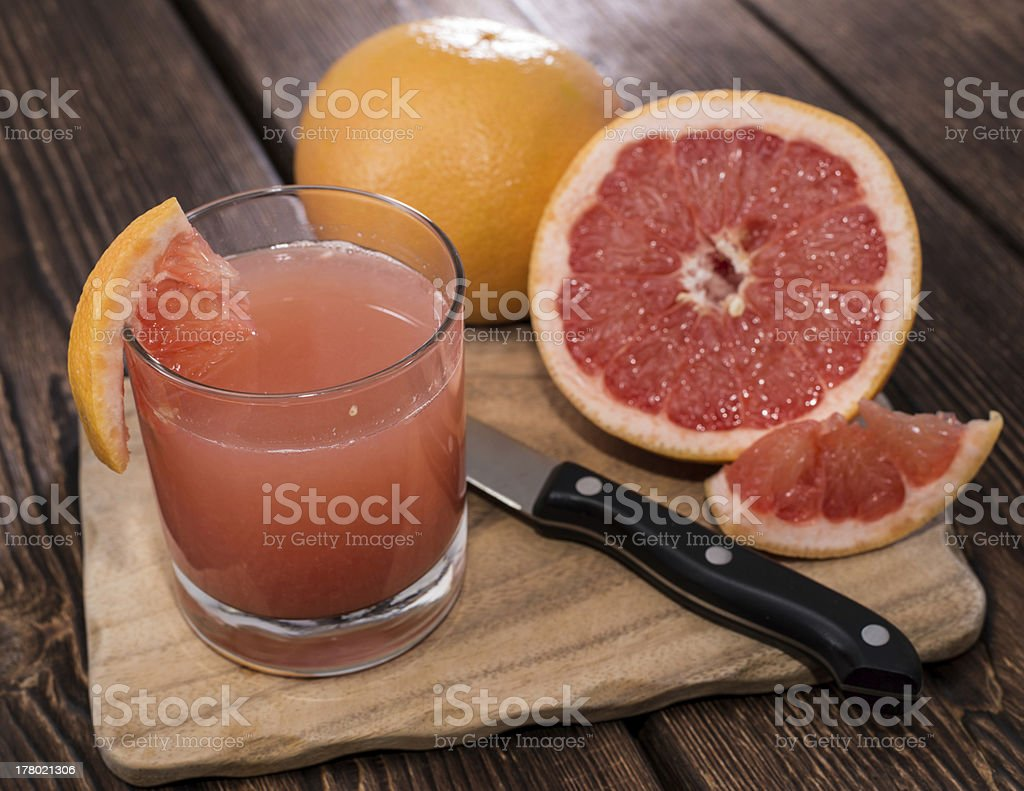 Portion of Grapefruit Juice stock photo