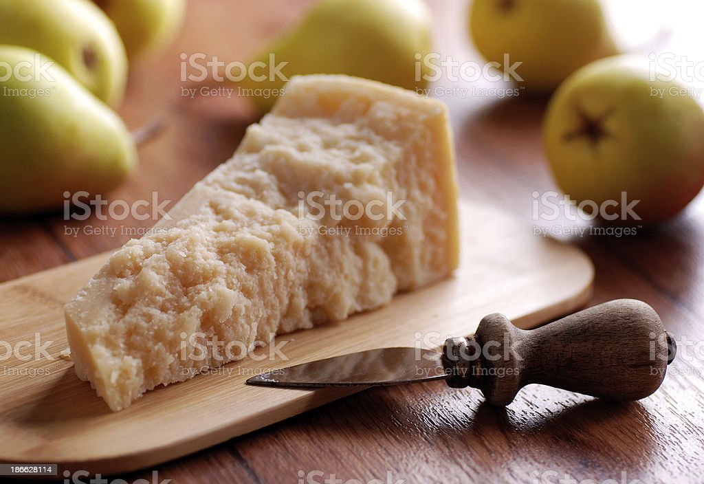 portion of parmesan cheese royalty-free stock photo