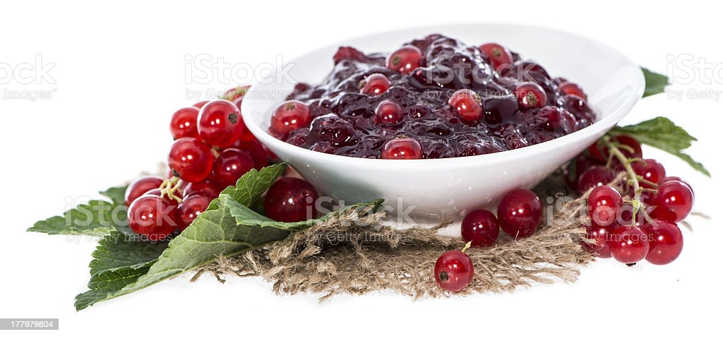 Portion of Red Currant Jam royalty-free stock photo