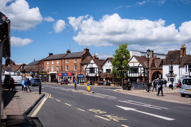 Portion of Rother Street in Stratford-upon-Avon stock photo