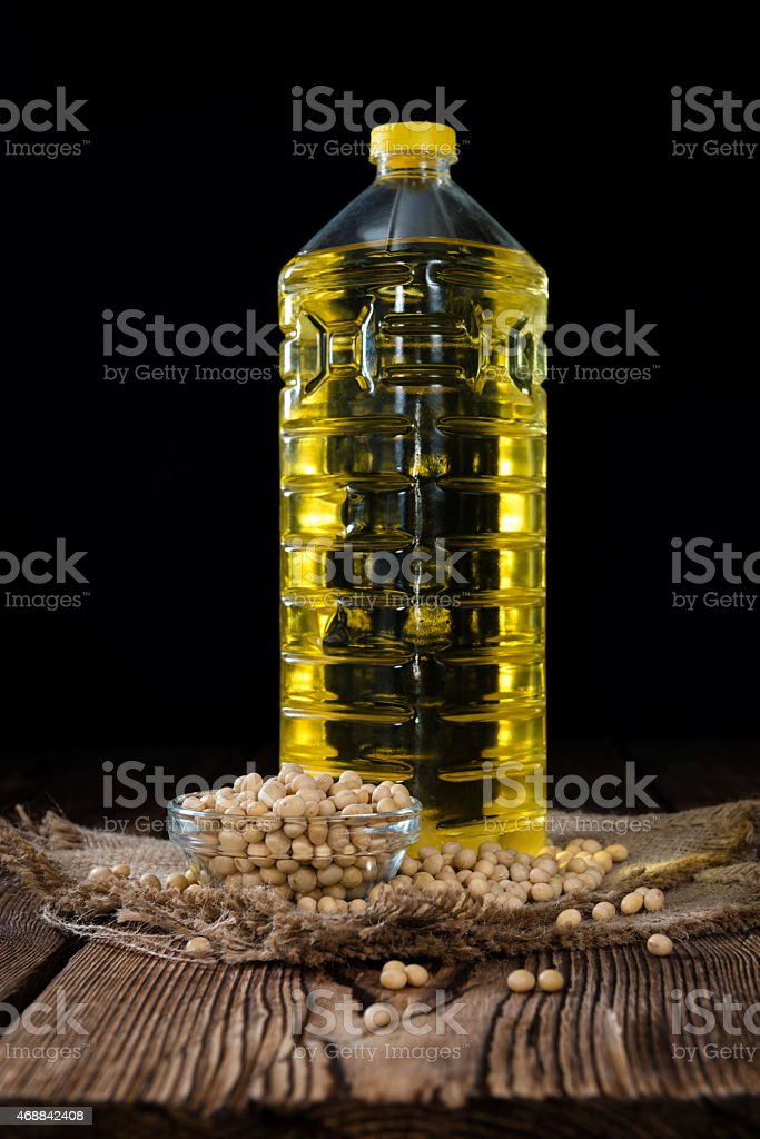 Portion of Soy Oil stock photo